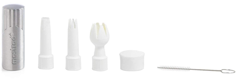 Voici le détail des accessoires du siphon de cuisine Mastrad F49314