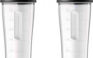 Les deux gourdes de 600 ml du blender Philips HR3655