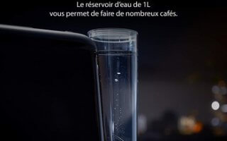 En tout cas, le réservoir d'eau de la cafetière à capsules Philips L'OR Barista LM8016 comble vos espérances à hauteur d'un litre!