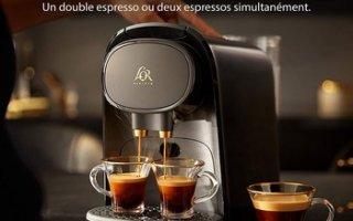 Avec la cafetière à capsules Philips L'OR Barista LM8016, buvez doublement de l'excellent café !