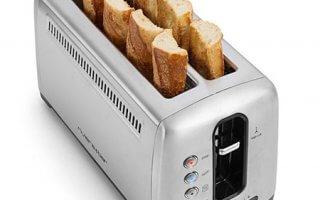 Plusieurs tranches à la fois pour le grille pain Riviera and Bar GP540A