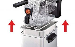 Le mécanisme détaille de la la friteuse electrique Seb Filtra One Pro 4 FR518100
