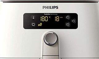 Que lire sur l'écran digital de lala friteuse sans huile Philips Airfryer Compact HD 9642