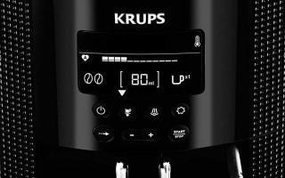 Manier le panneau de commandes digital de la cafetiere a grains Krups YY8135FD